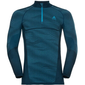 Odlo Suw Performance 1/2 LS Zip Turtle Neck Men poseidon-blue jewel-atomic blue